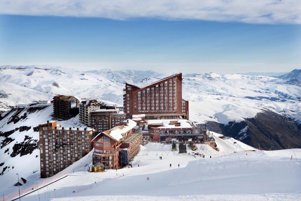 Esquiar no Valle Nevado no Chile