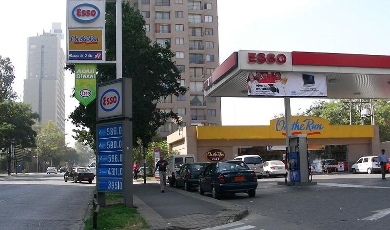 Posto de gasolina em Santiago do Chile