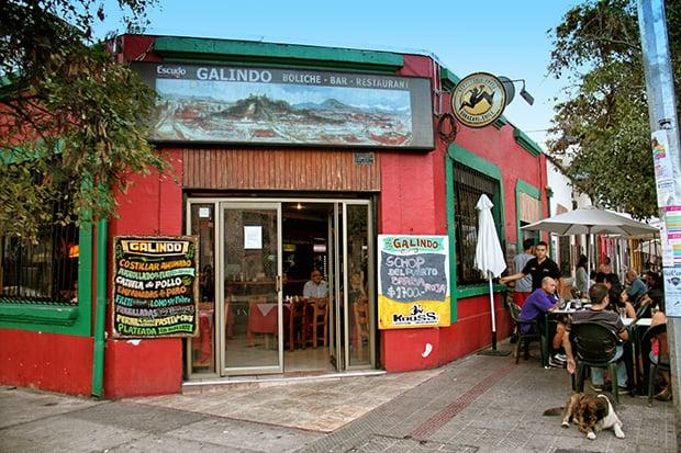 Bar Galindo em Santiago do Chile
