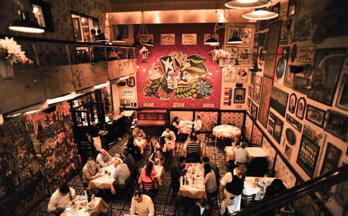 Bar e Restaurante Liguria em Santiago do Chile
