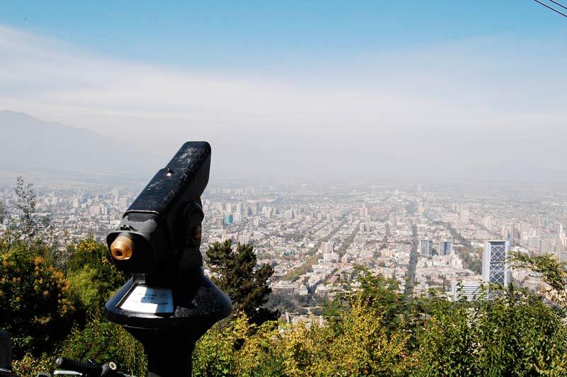 Panorâmica de Santiago do Chile