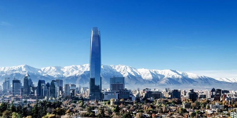 Diferença de fuso horário mês por mês em Santiago