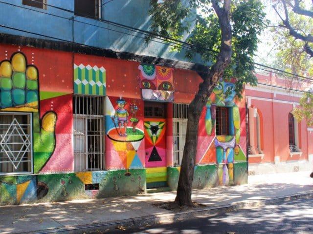 Bairro Bellavista em Santiago do Chile
