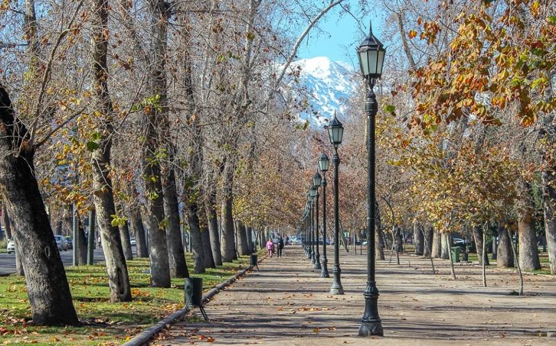Outono em Santiago do Chile