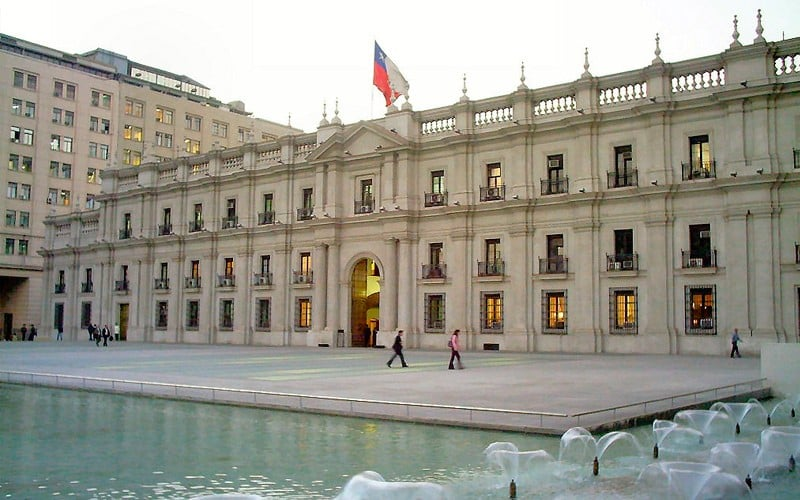 Palácio de La Moneda em Santiago do Chile