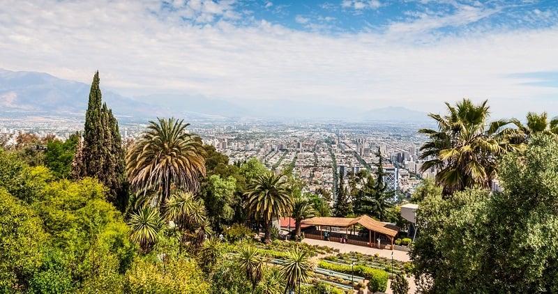 Passeio pelo Cerro San Cristóbal em Santiago