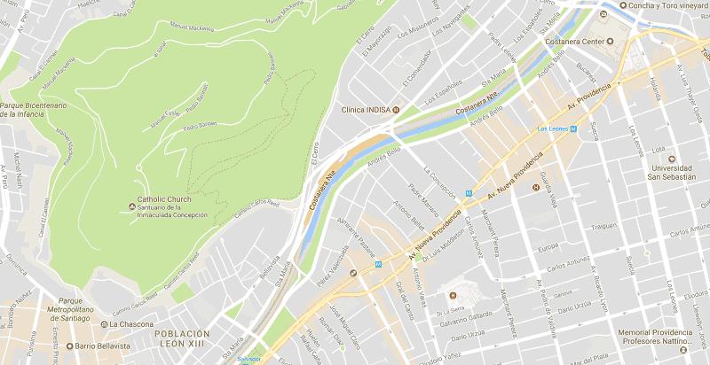 Pontos turísticos fora do centro turístico de Santiago