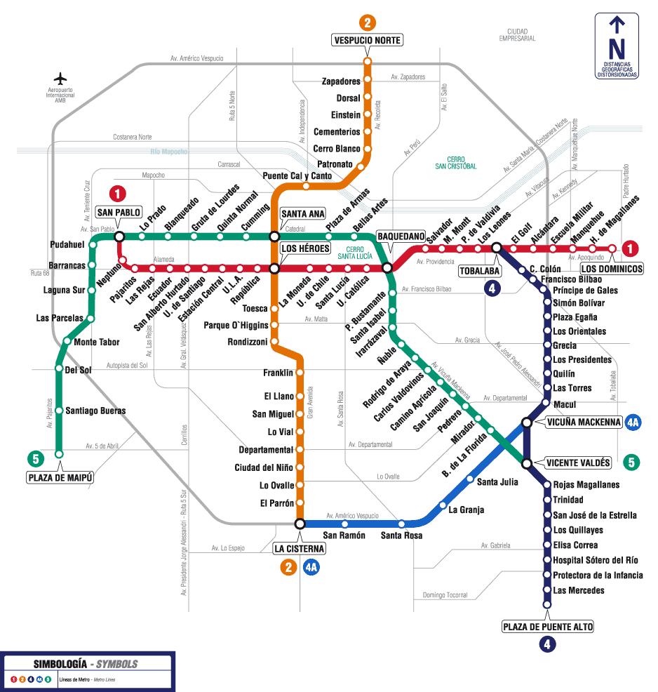 Como andar de metrô em Santiago do Chile