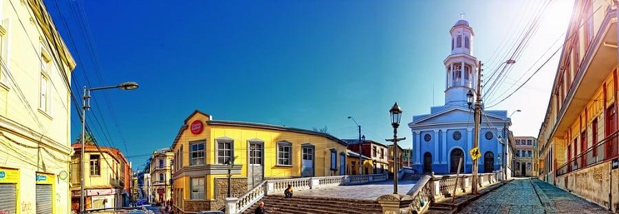 Bairro Puerto em Valparaíso