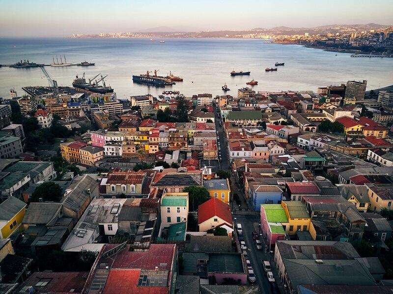 Vista do Cerro Concepción em Valparaíso