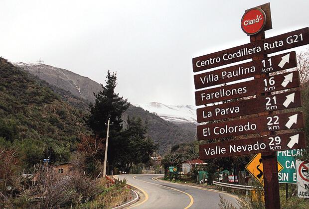 Estação de esqui La Parva no Chile