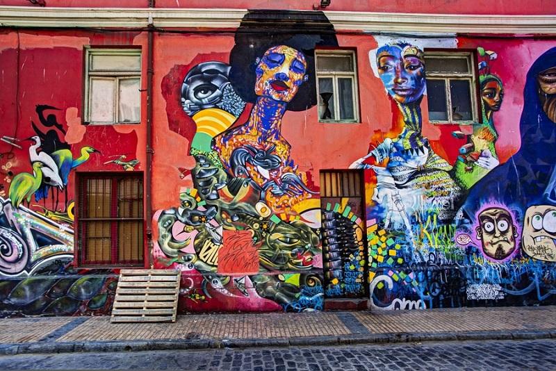 Grafite em Valparaíso