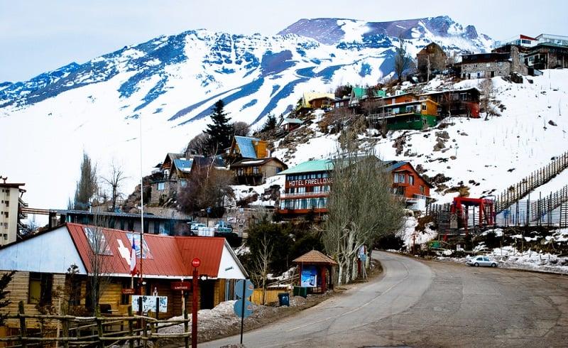 Infraestrutura na estação de esqui Farellones