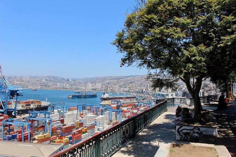 Vista de Paseo 21 de Mayo em Valparaíso