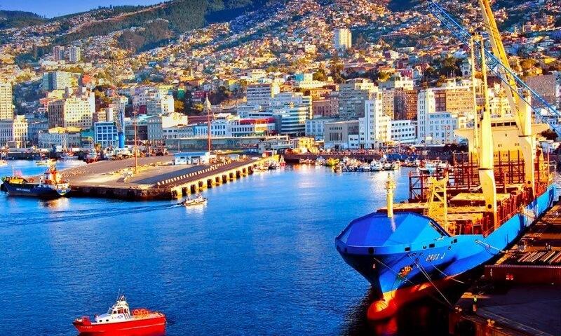 Porto em Valparaíso