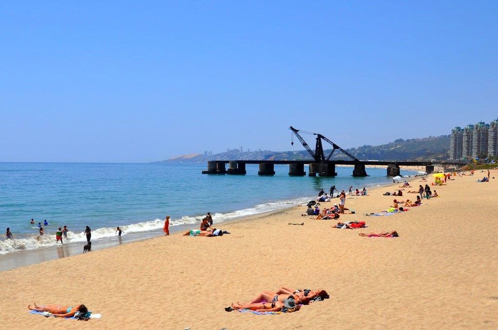 Praias Acapulco e El Sol em Viña del Mar