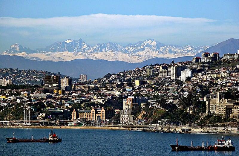 Como é o mapa turístico de Valparaíso