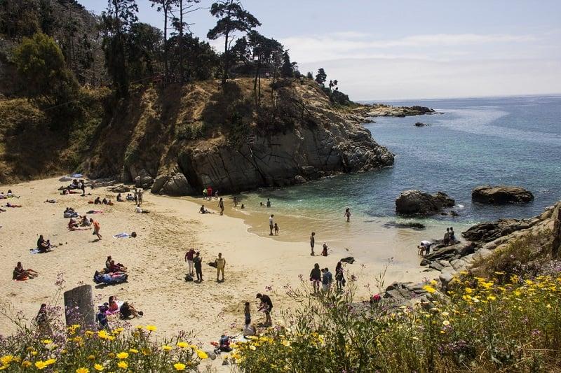 Playa Los Enamorados em Viña del Mar