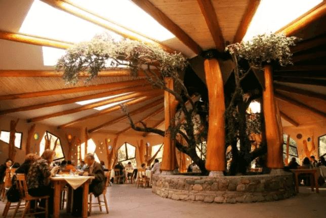 Culinária no restaurante Casa Bosque