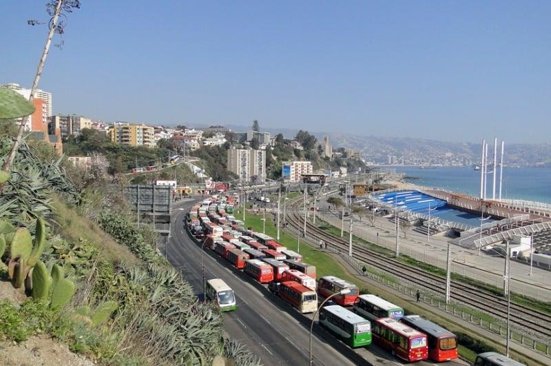 Como ir de Viña del Mar à Valparaíso