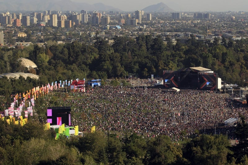 Parque O'Higgins em Santiago