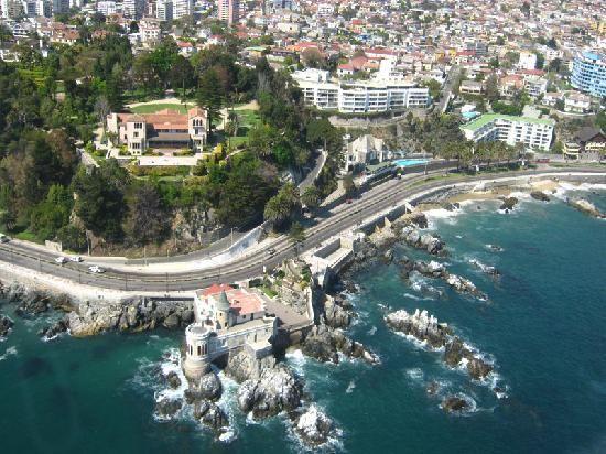 Viagem de carro de Valparaíso à Viña del Mar