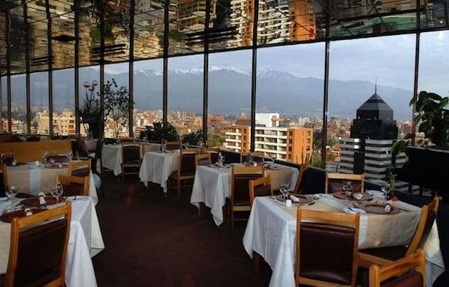 Restaurante no Ano Novo em Santiago do Chile