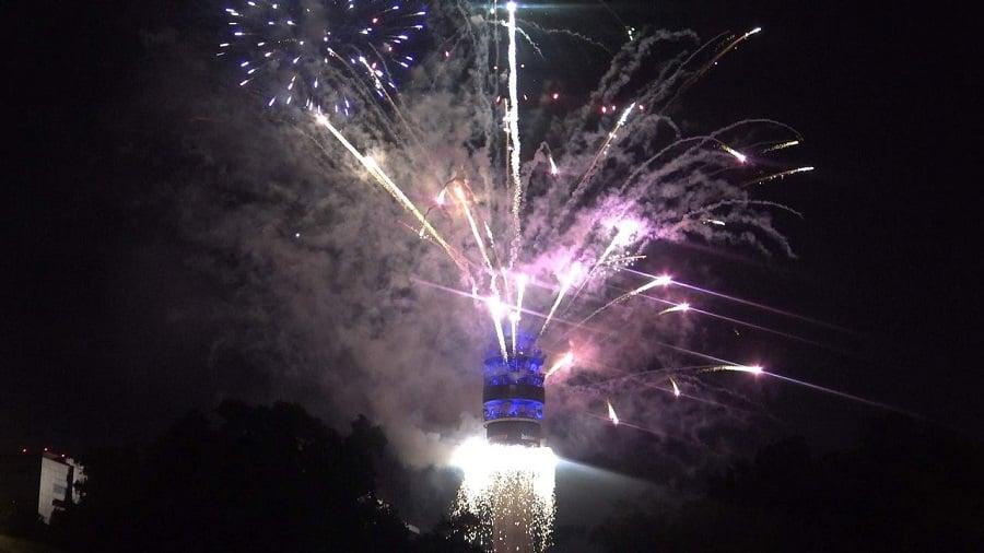 Festas de Ano Novo em lugares públicos de Santiago