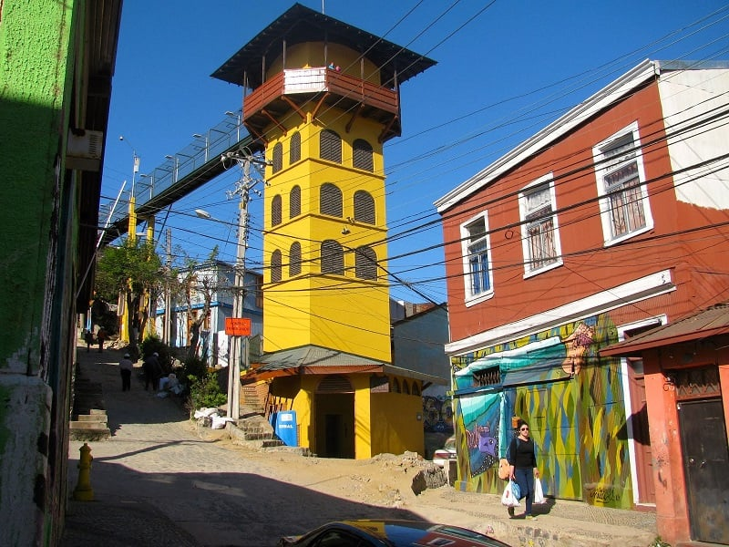 Passeio pelos cerros no verão em Valparaíso