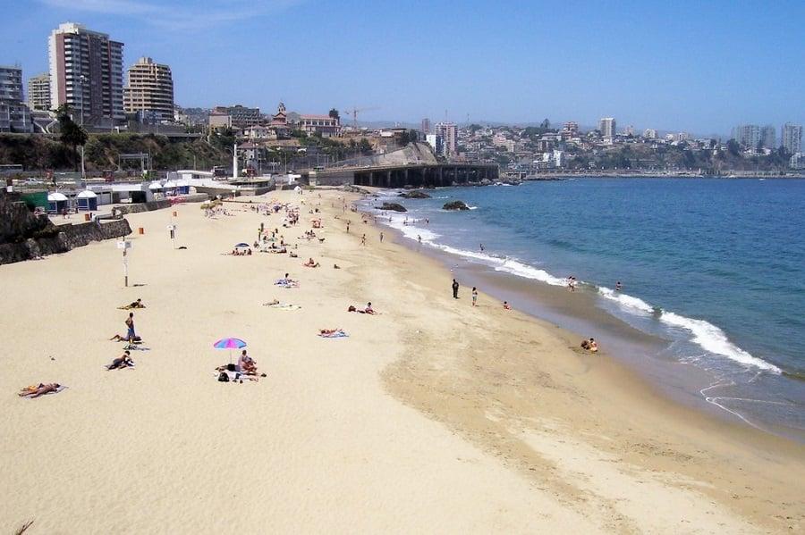 Ir nas praias no verão de Viña del Mar