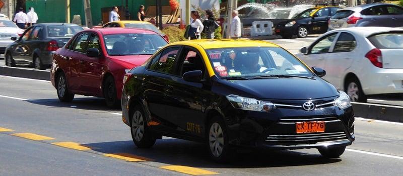 Táxi em Santiago do Chile