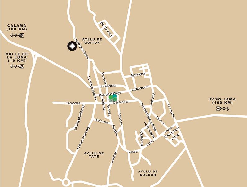 Como é o mapa turístico de San Pedro de Atacama
