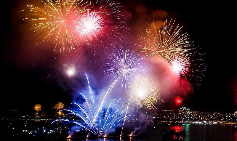 Fogos de artifício - Ano Novo Chile