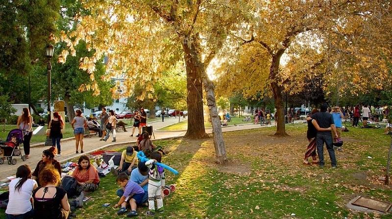 Santiago do Chile no outono