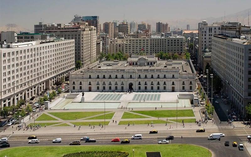 Palácio de La Moneda em Santiago