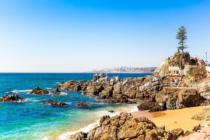 Beleza de praia em Valparaíso