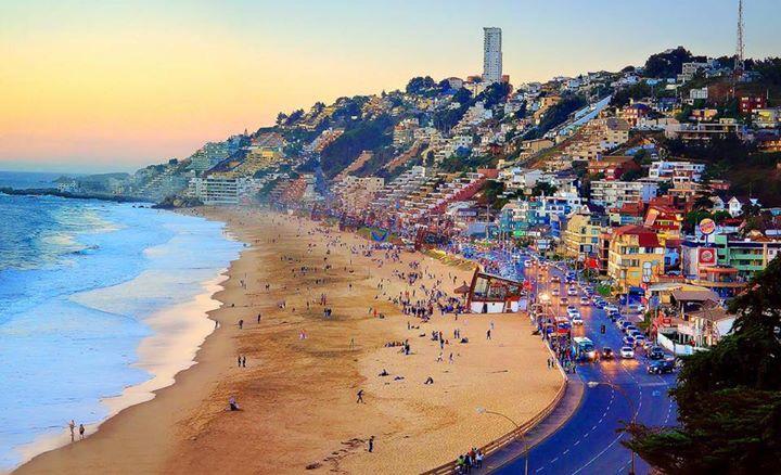 Praia Reñaca em Valparaíso