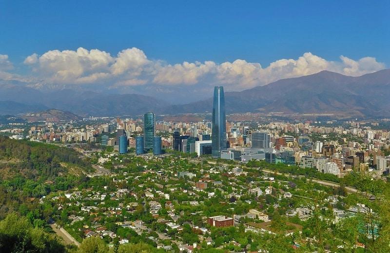Santiago do Chile no verão