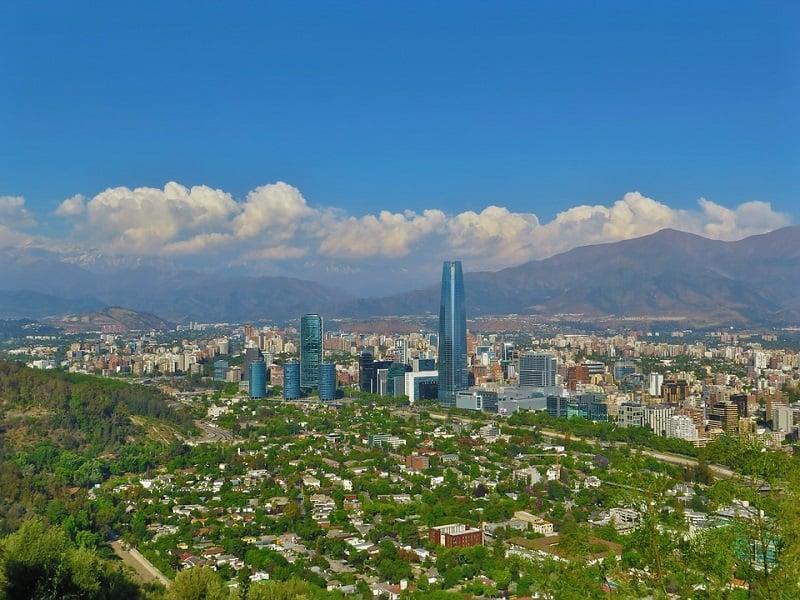 Santiago do Chile em fevereiro