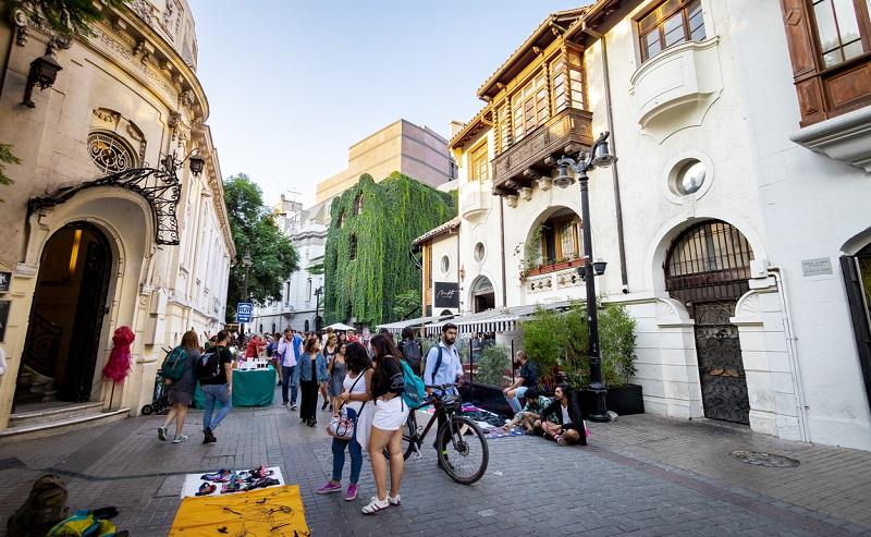 Turistas em Santiago do Chile