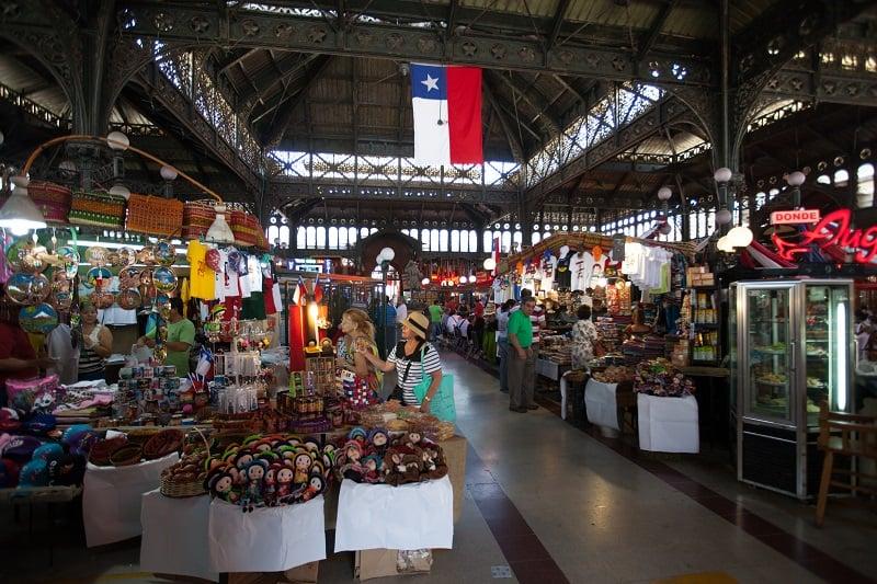 Conhecer o Mercado Central em Santiago no mês de junho