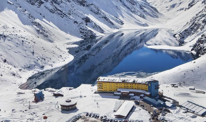 Estação de esqui Portillo em Santiago