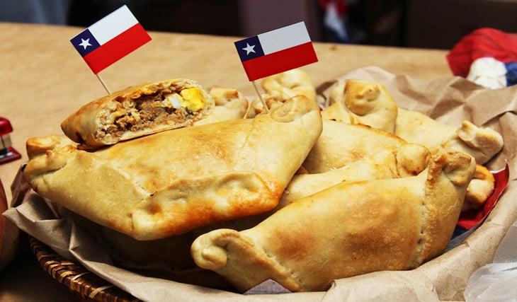 Empanadas em Santiago