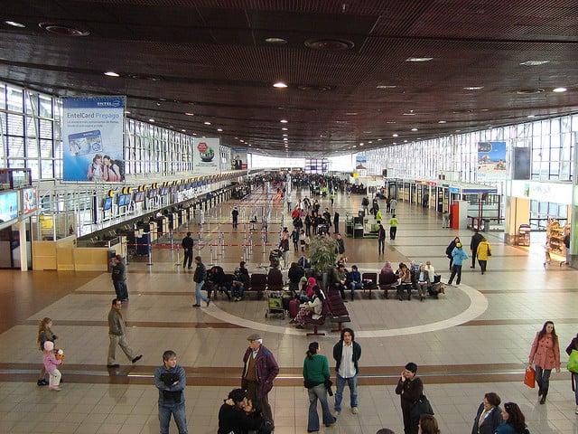 Estrutura do aeroporto de Santiago