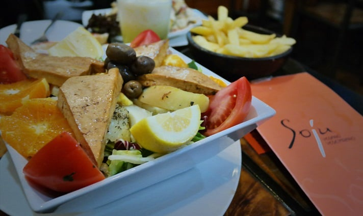 Restaurante vegetariano Soju