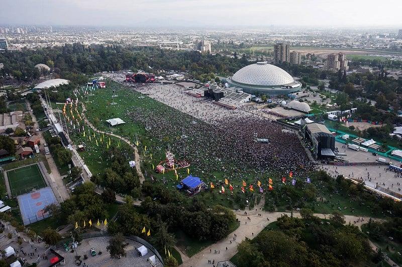 Parque O'Higgins em Santiago do Chile
