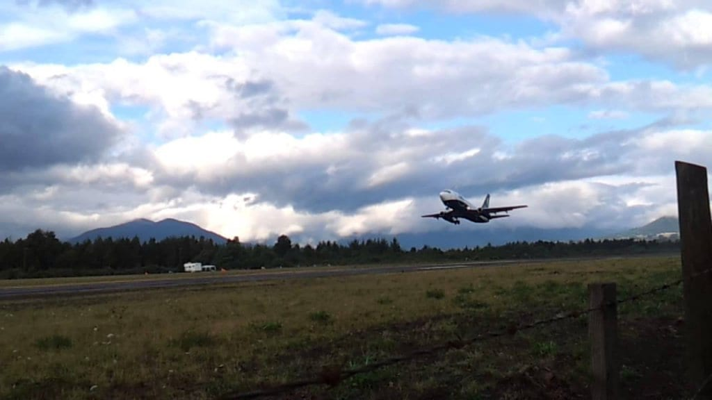 Tempo de avião até Pucón, no Chile