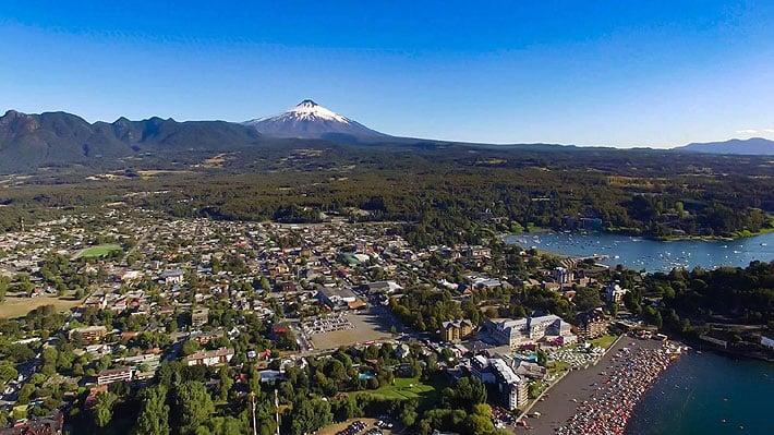 Cidade de Pucón, no Chile