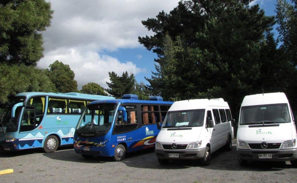 Transporte com agências de turismo em Pucón