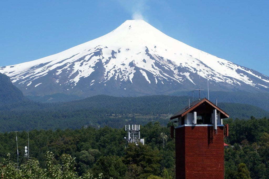 Vulcão Villarrica em Pucón, Chile